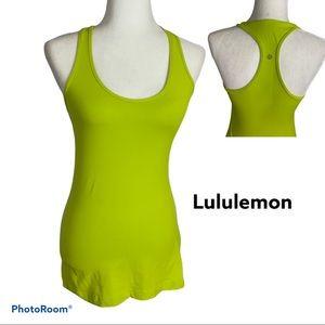 Lululemon Athletica lime green sleeves tank top 6
